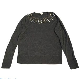 A new day jeweled Long Sleeve Sweater